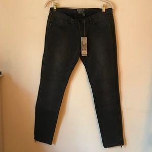 ted baker side zip skinny jeans dark wash